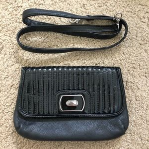 Grace Adele Black Clutch w/ attachable strap.